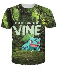 72bb6078 Bulbasaur Shirt T Shirt Top, Shirt Men, Tee Shirt, 3d Pokemon, Pokemon