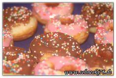 Mini-Donuts für Donutmaker - sehr lecker, backen, Küche, Donutmaker, Donuts, Donut, Rezept, luftig, lecker, Süsses, Nachspeise, Glasur