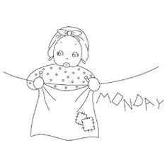 Pattern Detail | Mammy Tea Towels - Monday | Needlecrafter