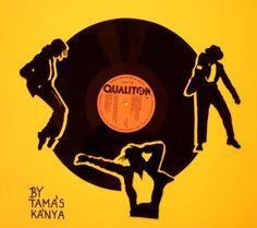 michael jackson vinyl records art in hungary by tamas kanya