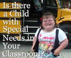 Kindergarten & Preschool for Parents & Teachers: Is There a Child with Special Needs in the Classroom? - ideas for children to help support those with special needs in their classroom