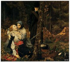 """The Wounded Cavalier"" by William Shakespeare Burton (1824-1916). """