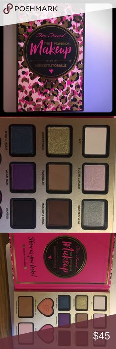 Too Faced: The Power of Makeup by Nikkitutorials Only been swatched. 100% authentic. Purchased from ulta. Only the palette. Makeup Eyeshadow