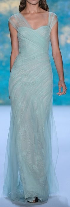 ~ Beautiful gown by French designer, Monique L'huillier. ~