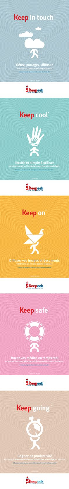 KEEPEEK : projet d'annonces presse. Direction artistique, conception-réalisation.