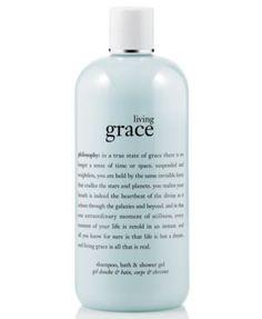 philosophy living grace 3-in-1 shampoo, shower gel & bubble bath, 16 oz