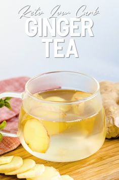 Enjoy a cup of warm, soothing fresh keto ginger tea this winter made right in your own home with only a few ingredients! This ginger tea will help boost immunity, help with indigestion and cure an upset stomach. Best of all, it's all keto and low carb! Keto Diet Drinks, Low Carb Drinks, Keto Drink, Quick Keto Breakfast, Keto Breakfast Smoothie, Keto Milkshake, Keto On A Budget, 15 Minute Meals, Ginger Tea