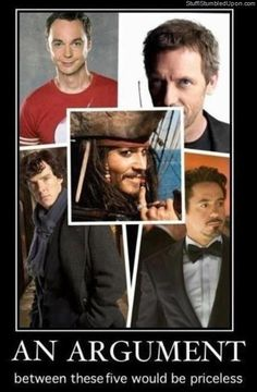 I'd replace Sparrow with Barbossa. Much more cunning, clever and well...intelligent. Isn't that the point of this pic? ;)