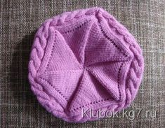 Bonnet au tricot - Sabine Debeer - Image Sharing World Baby Knitting Patterns, Loom Knitting Projects, Hand Knitting, Bonnet Crochet, Knit Crochet, Crochet Hats, Knitting Accessories, Beanie Hats, Hand Embroidery