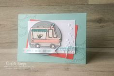 This cute Tasty Trucks stamp set is available free with an order of $110 + shipping until 31st March. Create your own version at a February class.