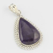AMETHYST FASHION JEWELRY  .925 SILVER PLATED PENDANT  S5803