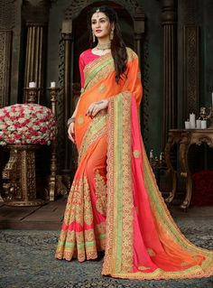 Sarees Online: Shop the latest Indian Sarees at the best price online shopping. From classic to contemporary, daily wear to party wear saree, Cbazaar has saree for every occasion. Designer Sarees Collection, Designer Sarees Online, Saree Collection, Lehenga Style, Lehenga Choli, Anarkali, Latest Indian Saree, Indian Sarees, Chiffon Saree