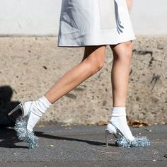 The coolest Milan #streetstyle — including this super-chic socks with pumps look – now on ELLE.com. | Photography by @nyavgjoe #MFW