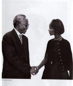Iman meets Nelson Mandela