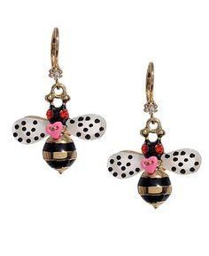 Bumble Bee Drop Earrings, Betsey Johnson