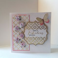 Card designed by Neil Burley using Midas sentiments and cardstock and Create with Candi. Craftwork Cards, Craft Work, Cardmaking, Card Stock, Projects To Try, Paper Crafts, Create, Handmade Cards, Birthday