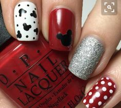 21 Spring Time Ready Outfits For 2019 Laci B brings on the fun in this Mickey Mouse-inspired manicure using her gifted polishes from the Collection. Have some serious fun recreating this nail art with the must-haves shared here. Nail Art Disney, Mickey Mouse Nail Art, Disney Nail Designs, Mickey Mouse Nails, Nail Art Designs, Disney Mickey, Disney Toes, Disney Manicure, Nails Design