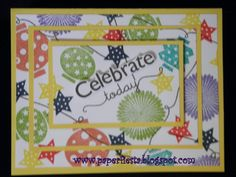 3 step stamping card I made using Paper Lantern stamp set from CTMH. Visit my blog for more cards and projects! www.paperfiesta.blogspot.com