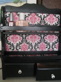 You see things like these all the time at thrift stores and yard sales. Re-paint them and give them a new purpose. Turn an old spice rack into a nail polish station.