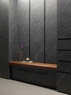 Black Stone Wall Treatment