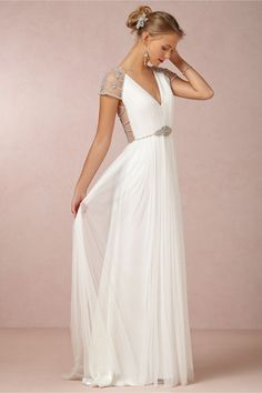 Tallulah Gown in Bride Wedding Dresses at BHLDN I don't know if this would even look good on me, but I am in love with it.