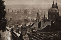 Karel Plicka shot fine monochrome photographs of Prague from the and documented a dark and mysterious Prague, a gothic and baroque Praha which. Prague Czech, Old World, Baroque, Monochrome, Mystery, Gothic, Dark, Photography, Painting