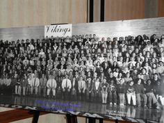 A panoramic photo from your senior year is a must for a high school reunion.