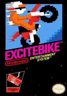 Items similar to Excitebike Nintendo Nes Game - Tested and Working on Etsy Vintage Video Games, Classic Video Games, Vintage Games, Retro Games, Nintendo Systems, Nintendo Games, Arcade Games, Video Game Posters, Video Game Art
