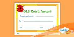 Koira award certificate mark 2