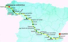 Así es el Camino de Santiago desde Valencia