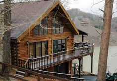 Serenity View Luxury Lakefront Log Home on Douglas Lake in Sevierville, TN, available for vacation lodging