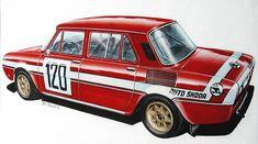 Škoda 120 S, 1973 Factory Rally Car Car Drawings, Rally Car, Old Cars, Cars And Motorcycles, Race Cars, Ferrari, Porsche, Design Inspiration, Racing