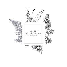 Botanical Logo- Photography Logo- Soap Logo- Stylist logo- Premade logo simple…