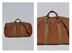 LL BEAN vintage duffle bag vintage duffel bag canvas tote. $85.00, via Etsy.