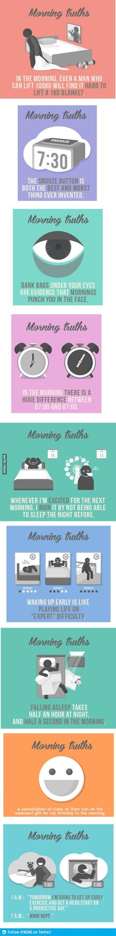 Funny pictures about Morning truths. Oh, and cool pics about Morning truths. Also, Morning truths. Look At You, Just For You, Good Morning For Him, The Awkward Yeti, Hate Mornings, 4 Panel Life, Funny Quotes, Funny Memes, The Face