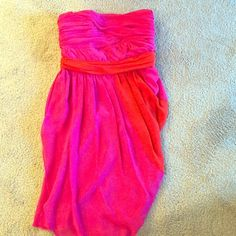 Vince Camuto strapless cocktail dress Pink with coral accents Vince Camuto Dresses Mini