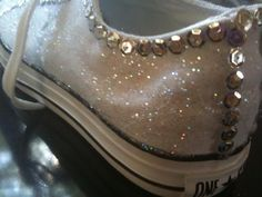 white bedazzled converse for honeymoon trip...great gift idea!