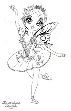 """I decided to draw all six fairies from the ballet """"Sleeping Beauty"""" as cute chibis! Feel free to color this however you like, please just leave my signature on it and link back to the original. Lil..."""