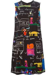 Dolce & Gabbana Drawings Print Dress  - Boutique Mantovani - Farfetch.com