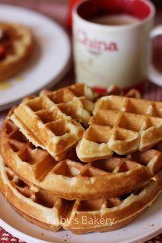 私房小菜: 【早餐】经典美式早餐:华夫饼(酵母版)(Belgian-Style Yeast Waffles) - 由dynicism发表 - 文学城