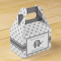 #shower - #Gray Elephant Shower Favor Box
