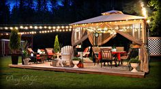 Dining Delight: Backyard Ambiance with Outdoor Lighting