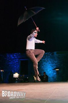 """Nicolas Dromard performs """"Singing In The Rain"""" at Transcendence Theatre Company's Broadway Under The Stars in Jack London State Park - Sonoma, Napa, Wine Country http://www.transcendencetheatre.org/ Photo By Ray Mabry"""
