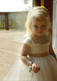 Flower Girl Dress Organic Cotton by OliviaKateCouture on Etsy