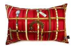 超希少ピエロフォルナセッティI BASTONIレッドデザインのヴィンテージ生地ビッグ横長クッション #cushion #cushioncover #クッション #クッションカバー #ヴィンテージ #アンティーク #vintage
