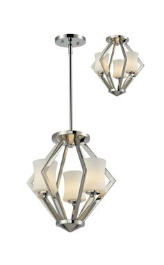 Z-Lite 608SF-C-CH Elite 3 Light Semi-Flush Mount In Chrome With Matte Opal Shade is made by the brand Z-Lite Lighting and is a member of the Elite collection. It has a part number of 608SF-C-CH.