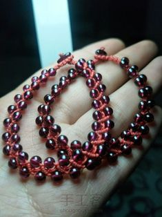 红绳之珠链♛原创 第10步 Bracelets, Jewelry, Fashion, Moda, Jewlery, Bijoux, Fashion Styles, Schmuck, Fasion