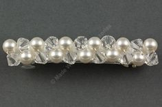 Pearl & Crystal Barrette- Bridal Hair Clip - Hair Accessories- Bridal Hair Accessories - Swarovski Crystals and Pearls by Makewithlovecrafts on Etsy Bridal Hair Accessories, Barrette, Hair Clips, Swarovski Crystals, Pearl Necklace, Beaded Bracelets, Pearls, Etsy, Jewelry
