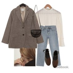 Korean Summer Outfits, Fall Outfits, Casual Outfits, Cute Outfits, Work Fashion, Hijab Fashion, Korean Fashion, Fashion Outfits, Aesthetic Fashion
