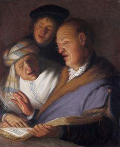 Три музыканта (Аллегория слуха). Рембрандт Харменс ван Рейн. Частная коллекция 1624–25.